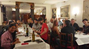 Celebración de la cena de bienvenida
