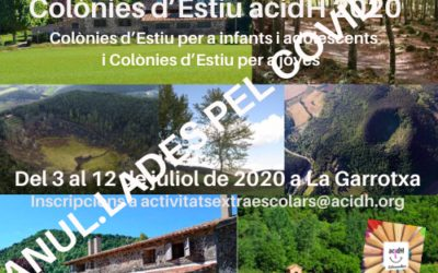 Anul.lació Colònies d'Estiu acidH 2020