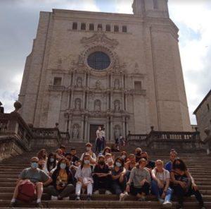 Alumnes d'últim curs de l'ESO en el viatge