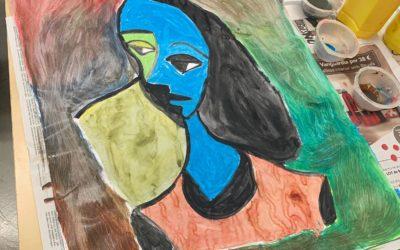 Autorretrato en el taller de pintura