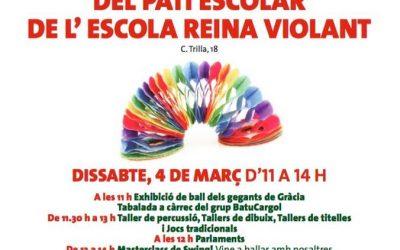 Participació a la festa d'inaguració del pati escolar de l'Escola Reina Violant