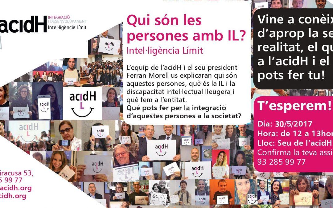 PRESENTACIÓ A LA CIUTADANIA D'ACIDH I LA INTE.LIGÈNCIA LÍMIT (IL)