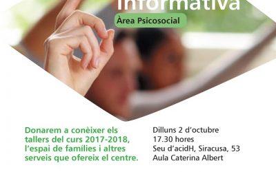 Reunión Informativa Talleres Espacio Famílias