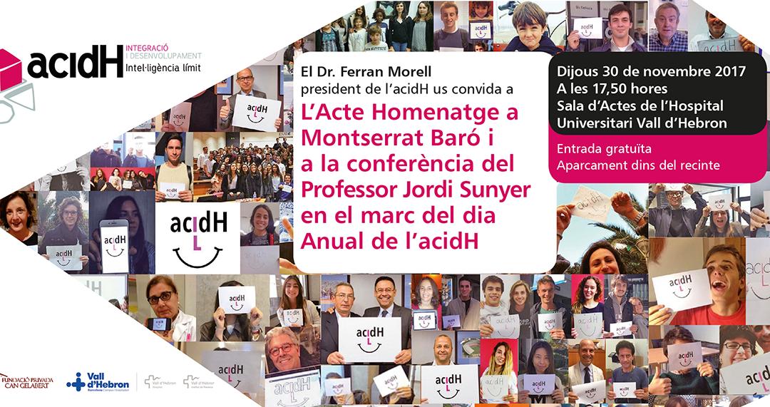Acte Homenatge a Montserrat Baró | Conferència del Professor Jordi Sunyer en el marc del dia Anual de l'acidH