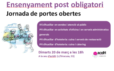 Jornada Portes Obertes Ensenyament Post Obligatori