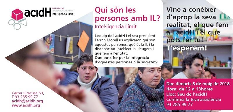 8 de mayo: PRESENTACIÓN A LA CIUDADANIA DE ACIDH Y LA INTELIGENCIA LÍMITE (IL)