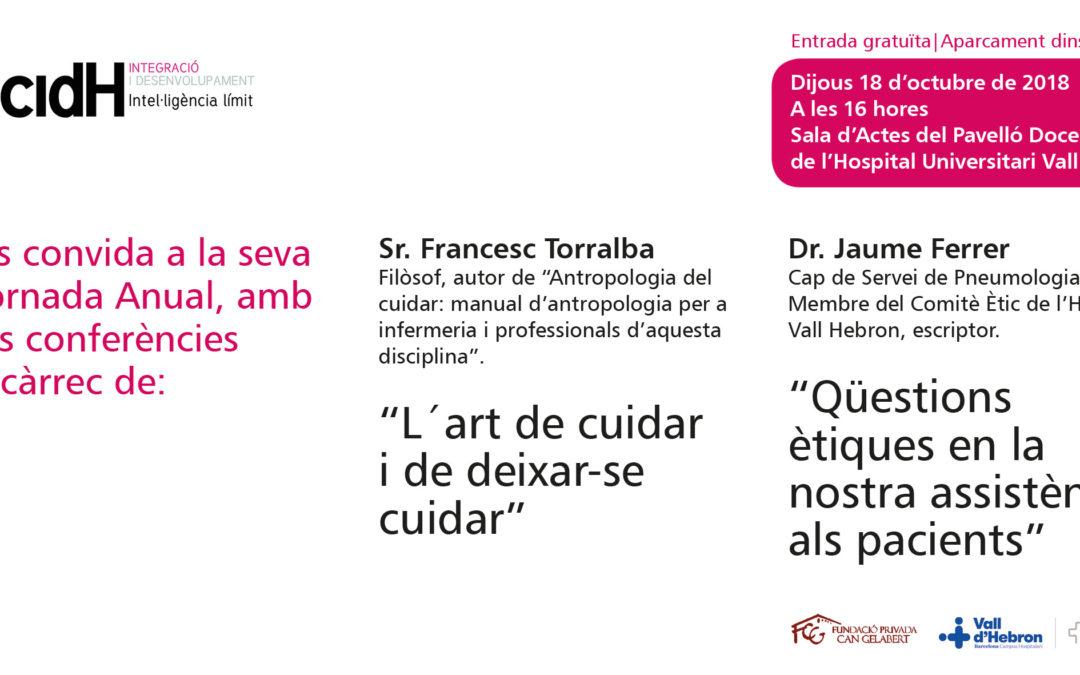 Conferència del Sr. Francesc Torralba i del Dr. Jaume Ferrer |  Jornada anual acidH 18 d'octubre