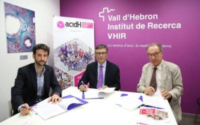 El VHIR y acidH firman un convenio de colaboración para impulsar la investigación en el ámbito de la inteligencia límite y mejorar la empleabilidad de estas personas