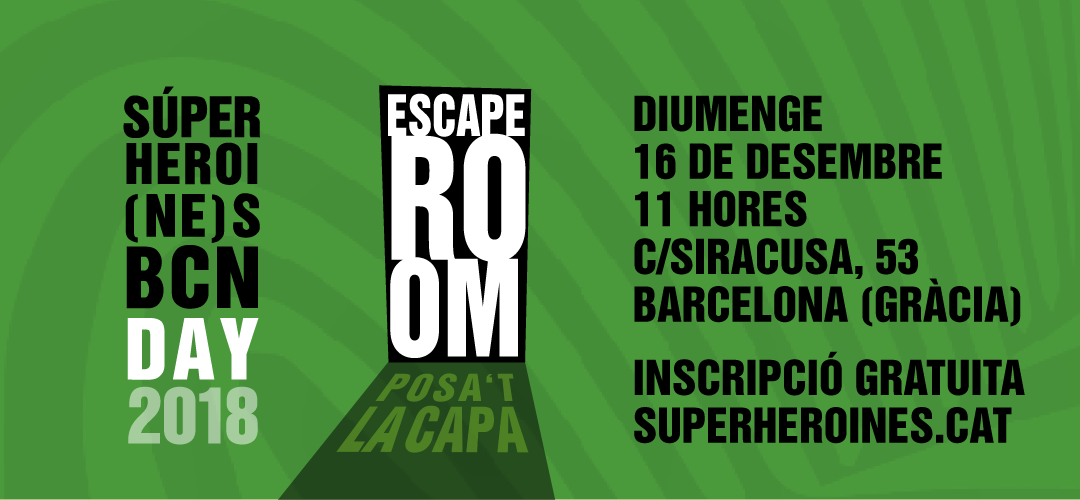 Apuntate al Superheroi(ne)s BCN Day domingo 16/12