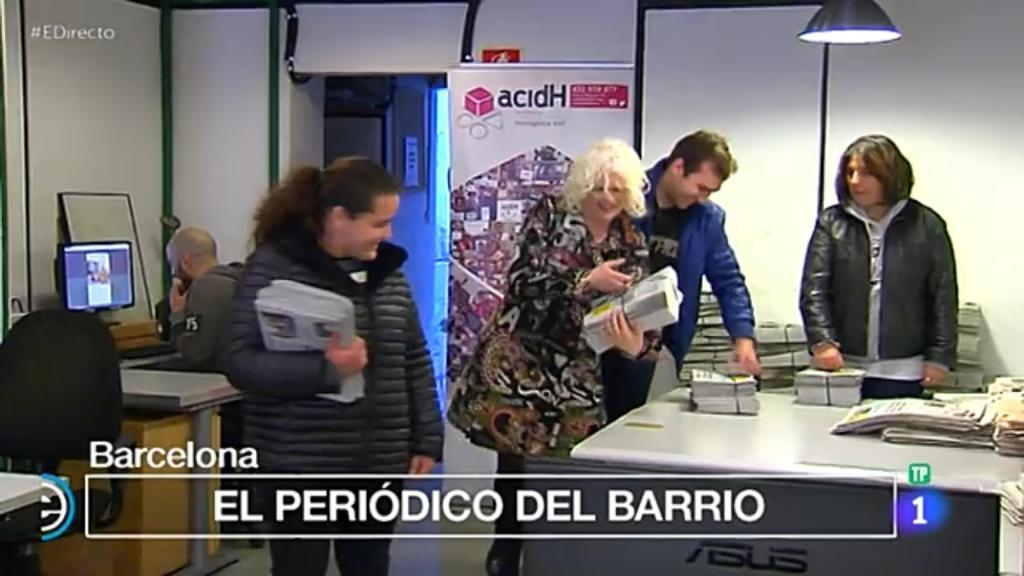 """Repartim """"L'Independent de Gràcia"""", al programa """"España Directo"""" de TVE1"""