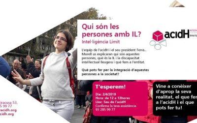 2 d'ABRIL : PRESENTACIÓ A LA CIUTADANIA D'ACIDH I LA INTEL·LIGÈNCIA LÍMIT (IL)