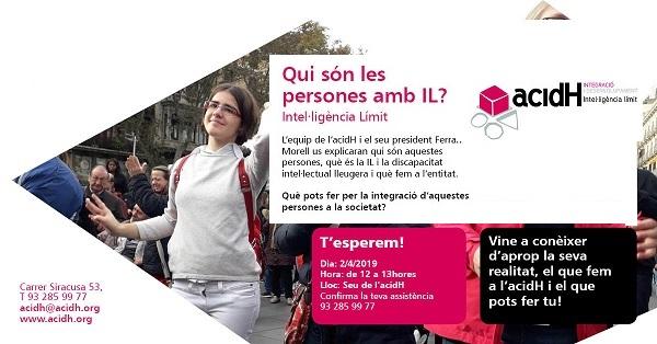 2 de abril : PRESENTACIÓN A LA CIUDADANIA DE ACIDH Y LA INTELIGÉNCIA LÍMITE (IL)