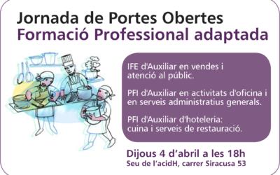 4 d'abril: Jornada de Portes Obertes de Formació Professional adaptada