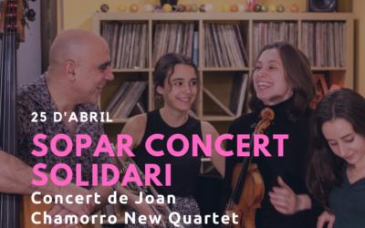 """Cena solidaria y concierto de """"Joan Chamorro New Quartet"""" en las Terrazas  ''Punt de Vistes''"""