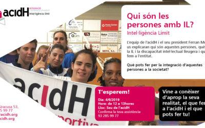 4 DE JUNY : PRESENTACIÓ A LA CIUTADANIA D'ACIDH I LA INTEL·LIGÈNCIA LÍMIT (IL)
