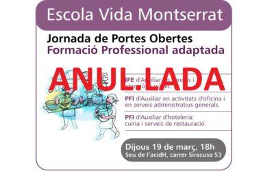19 de marzo: Jornada de Puertas Abiertas de Formación Profesional adaptada