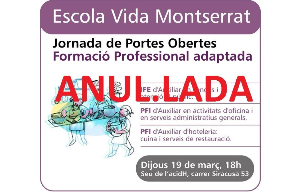 19 de març: Jornada de Portes Obertes de Formació Professional adaptada