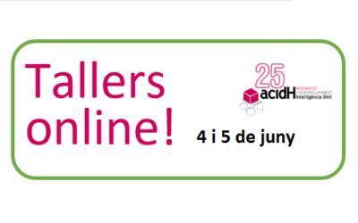 Talleres online dies 4 y 5 de junio para pasar mejor el confinamiento