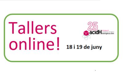 Tallers online dies 18 i 19 de juny per passar millor el confinament