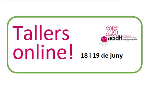 Talleres online dias 18 y 19 de junio para pasar mejor el confinamiento