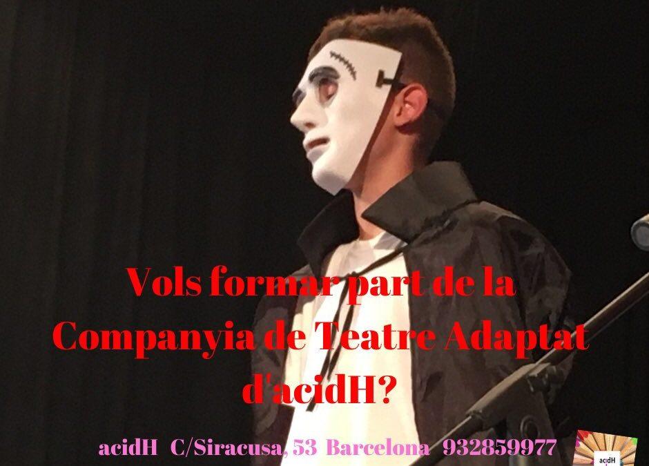 Arrenca temporada la Companyia de Teatre Adaptat acidH