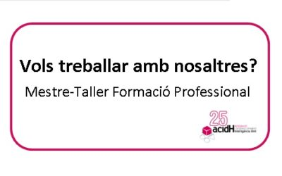 Oferta de feina: Mestre-Taller Formació Professional