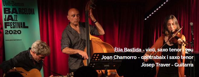 """ATENCIÓ: POSPOSEM Concert de jazz solidari """"Bastida, Chamorro & Traver Trio"""" a les Terrasses ''Punt de Vistes''"""